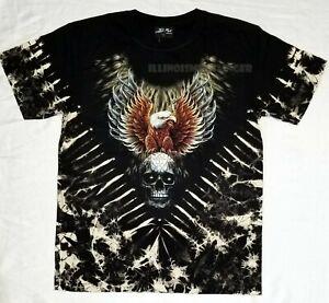 Bald Eagle Tribal Skull Tie Dye Glow In The Dark HD Rock Chang Design T-shirt