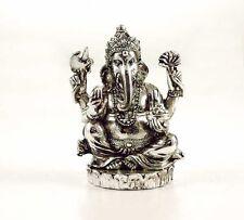 Ganesh Sitting Silver Colour 7.5 cms / Ganesha / Hindu Elephant God / Buddha