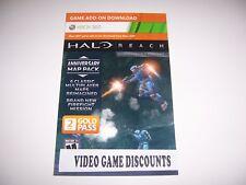 XBox 360 Live HALO Reach Anniversary Map Pack Bonus Content Card Code