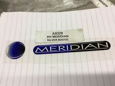 Peugeot 306 MERIDIAN silver badge emblem  A5328 Genuine New