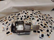 GAF Pana-Vue Automatic Lighted 2X2 Slide Viewer LOT with 1000 VIntage SLIDES