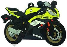 Yamaha YZF-R6 rubber key ring motor bike cycle gift chain keyring yellow R6