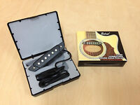 Belcat SH-80 Humbucker Soundhole Pickup w/Active Power Jack for Acoustic Guitar