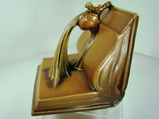 ROSEVILLE Art Pottery Gorgeous SINGLE PINECONE Bookend 1-4 Tan Art-Deco