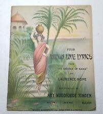 Vintage Sheet Music Booklet Four Indian Love Lyrics Orig Cover 26 Pages 1911