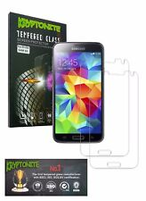 KRYPTONITE Samsung Galaxy S5 Tempered Glass Screen Protector-2 Pack, Bubble free