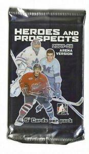 2007-08 In The Game Heroes & Prospects Unopened Hockey card pack.