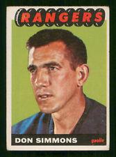 DON SIMMONS 1965-66 TOPPS NO 88 GOOD+ 42808