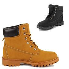 Botas Militares Hombre Mujer Botas Atado Zapatos Ecopiel Botas Cordones Mode