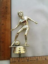 Soccer Player Silver Plastic Trophy Topper