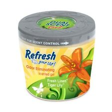 Simply Fresh 09105 Car Airfreshener Sun-kissed Linen Tiger Lily Scented GEL 5oz