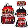 Game Roblox Kids School Bag Backpack Lunch Bag Crossbody Bag Pencil Case Lot
