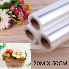 50cm*20m Rollo Envoltura De Celofán Transparente Envoltura de alimentos Artes Artesanía Regalo más grueso