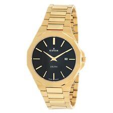 EDOX 71289 37JM NID Men's Delfin Black Quartz Watch
