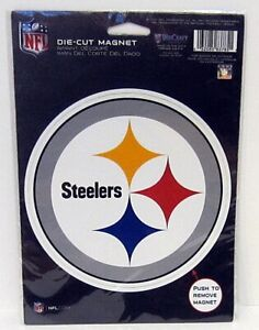 NFL Pittsburgh Steelers 5 3/4 inch Auto Magnet Die-Cut by WinCraft MINT
