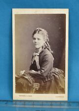 Victorian CDV Photo Carte De Visite Attractive Young Lady Barnes & Son London