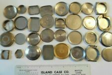 1960's Stainless Steel Wrist Watch Case Backs 32 pieces