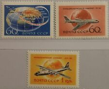 RUSSIA SOWJETUNION 1958 2106-08 A 2086-87 Civil Aviation Flugzeuge Airplanes MNH