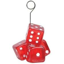 Dice Photo or Balloon Holder Casino Vegas Gambling Party Accessory Decoration