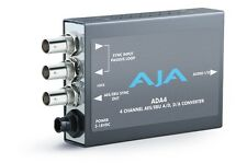 AJA ADA4 4-Channel Bi-Directional Audio A/D & D/A Converter or AES Synchronizer