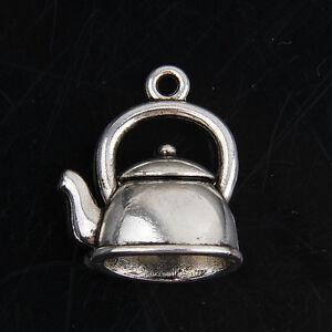 Free Ship 45pcs Tibetan Silver Tea Pot Pendant Charms 20*17mm