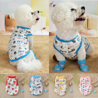Cute Striped Sleeveless Casual Dog Clothes Pet Vest Costume Puppy Dog Accessory