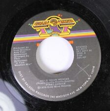 Soul 45 First Choice - Hold Your Horses / Now I'Ve Thrown It All Away On Gold Mi