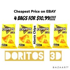 Doritos 3D queso Mexican chips Sabritas 4 BAGS, 50g, EXP.DATE SEPT- OCT 2020