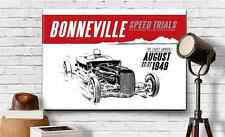 "Hot Rod Graphic Art Print Canvas Bonneville 1932 Ford Racer 18""X24"" Guy Gift"