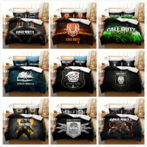 Call of Duty Three-piece Duvet Quilt Cover Bedding Set Single Double Pillowcase