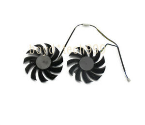 PLD08010S12HH 2psc 75MM Cooler Fan For MSI GeForce GTX 580 570 560 560Ti 465