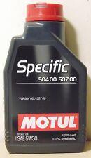 Motul VW Specific 5W30 Engine Oil 1L for Volkswagen Skoda Audi VW Porsche Seat