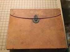 original traveling desk, leather covered, one ink bottle, nice, locks