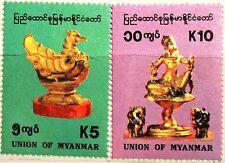 MYANMAR BURMA 1993 318-19 315-16 Natl. Artifacts Kunstschätze Lawkanat Art MNH