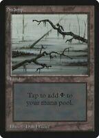 1x Swamp (C) - Beta Black Basic Land - MTG MP EDH Magic - MTG_Dom Vintage