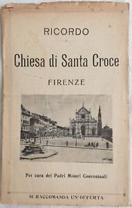 VIAGGI RICORDO CHIESA DI SANTA CROCE FIRENZE TOSCANA FLORENCE ANNI 20