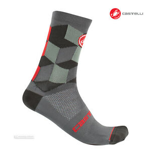 Castelli UNLIMITED 15 Cycling Socks : FOREST GREY - One Pair