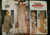 VOGUE SEWING PATTERN 1303 MISSES SZ 8-16 SLEEVELESS DRESS W// NOTCHED NECKLINE