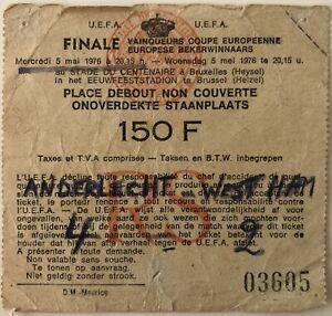 1976 European Cup Winners Cup Final Ticket - Anderlecht v West Ham Utd