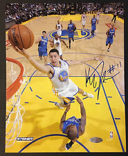 Klay Thompson Warriors 2x NBA Champ Signed 8x10 Photo auto autograph Steiner COA
