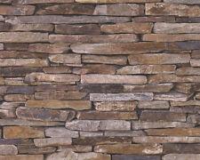 Tapete Vliestapete Stein Bruchstein Mauer 3D Optik 9142-17 Wood'n Stone