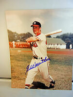 EDDIE MATHEWS Autograph Milwaukee Braves 8x10 Photo Signed TS COA