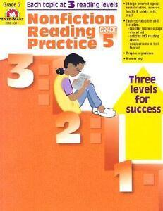 Nonfiction Reading Practice, Grade 5 by Evan-Moor