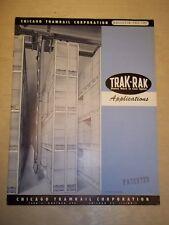 Vtg Chicago Tramrail Corp Catalog~Trak-Rak Cranes