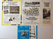 LOT PUBLICITES ANNEES 80 SPECIAL LAURENT FIGNON