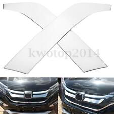 2Pcs Stainless Steel Chrome Car Grill Grille Trim Strip For Honda CRV 2015 2016