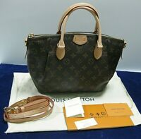 *EXC COND* Louis Vuitton Monogram Turenne PM Handbag Shoulder Bag Brown M48813