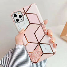 Case For iPhone Marble Soft Shockproof Silicone Gel Phone Cover TPU Bumper Skin