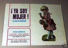 ¡Ya soy mujer! {Cristina Ramón} Original French Movie Program 70s