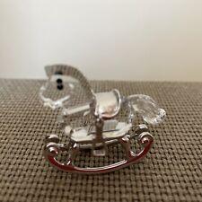 Swarovski Crystal Memories Rocking Horse Figurine With Silver Trim #626866